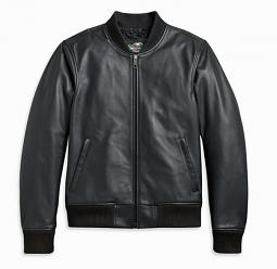 Harley-Davidson® Men's Leather Bomber Casual Jacket | Make It Your Own