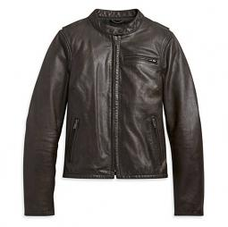 Harley-Davidson® Women's Leather Casual Jacket | Brown | Make It Your Own