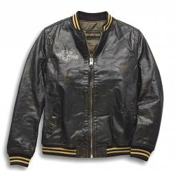 Harley-Davidson® Women's Chalette Leather Bomber Jacket
