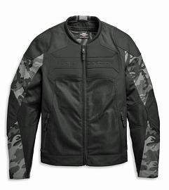 Harley-Davidson® Men's Brawler Camo Textile Riding Jacket | Removable Windproof Liner