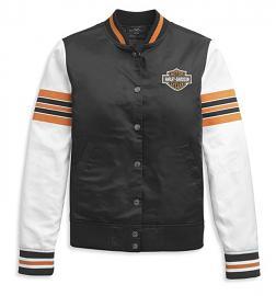 Harley-Davidson® Women's Casual Bomber Jacket | Sleeve Stripes