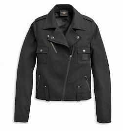 Harley-Davidson® Women's Asymmetrical-Zip Casual Biker Jacket