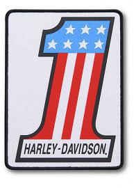 Harley-Davidson® #1 Logo Iron-On Patch | Large