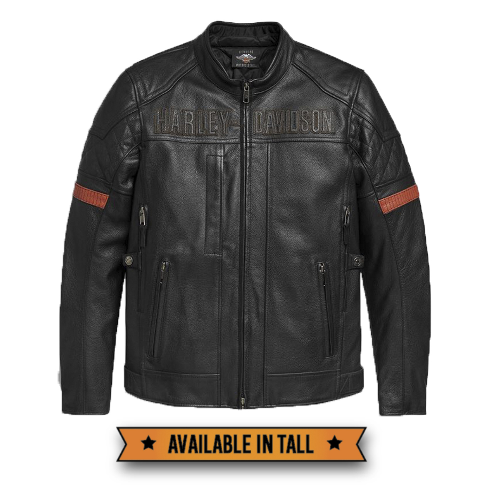 Harley-Davidson® Men's Vanocker Waterproof Leather Riding Jacket | Triple Vent System™