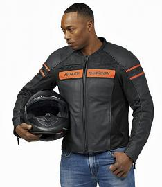 Harley-Davidson® Men's Brawler Leather Riding Jacket | Mesh Air Flow Panels | Removable Windproof Liner