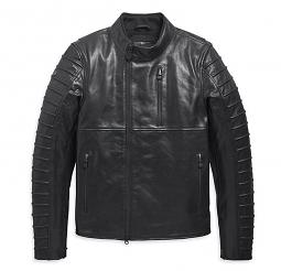 Harley-Davidson® Men's Ozello Perforated Leather Riding Jacket | CoolCore® Technology | Slim Fit
