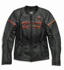 Harley-Davidson® Women's Brawler Leather Riding Jacket | Mesh Air Flow Panels | Removable Windproof Liner