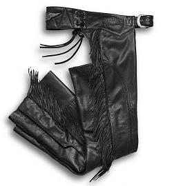 Harley-Davidson® Women's Boone Fringed Leather Chap