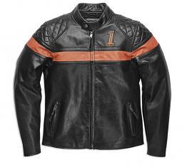 Harley-Davidson® Men's Victory Sweep Leather Riding Jacket