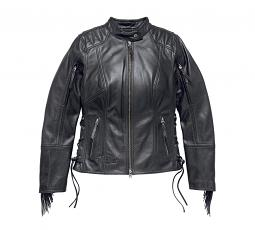 Harley-Davidson® Women's Boone Fringed Leather Jacket | Sleeve & Back Vents