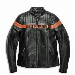 Harley-Davidson® Women's Victory Sweep Leather Riding Jacket