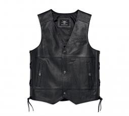 Harley-Davidson® Men's Tradition II Leather Vest | Customizable