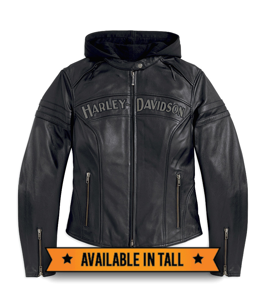 Harley-Davidson® Women's Miss Enthusiast 3-in-1 Leather Jacket