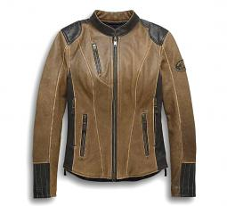 Harley-Davidson® Women's Gallun Leather Riding Jacket | Triple Vent System™ | CoolCore® Technology