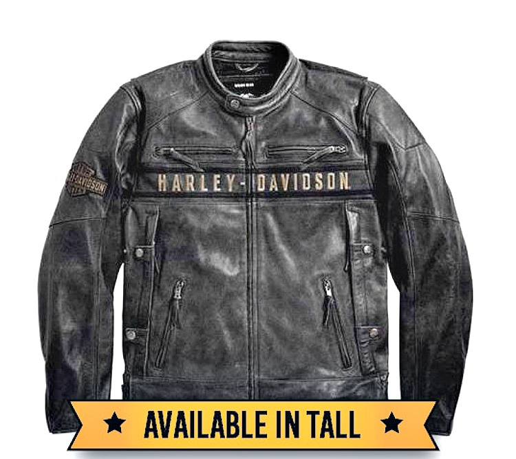 Harley-Davidson® Men's Triple Vent System Passing Link Leather Jacket
