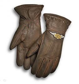 Harley-Davidson® Women's Element Gloves | Brown Leather | Stud Details