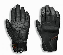 Harley-Davidson® Women's Brawler Mixed Media Gloves | Knuckle Protection | Touch-Screen Compatible