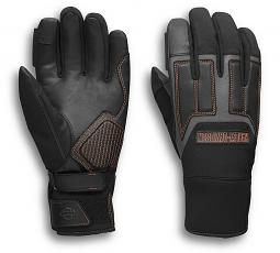 Harley-Davidson® Men's Vanocker Under-Cuff Gauntlet Gloves | Mixed Media | Waterproof Insert