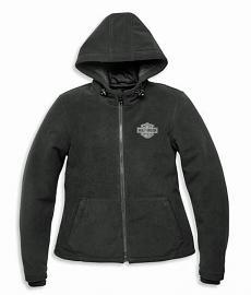 Harley-Davidson® Women's Roadway II Waterproof Fleece Riding Jacket | Reflective Appliqués | Body Armor Pockets