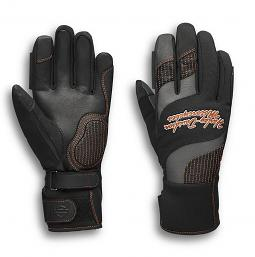 Harley-Davidson® Women's Waterproof Vanocker Under-Cuff Gauntlet Gloves | Touch-Screen Compatible