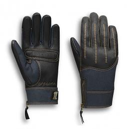 Harley-Davidson® Women's Arterial Gloves | Leather & Denim | Touch-Screen Compatible