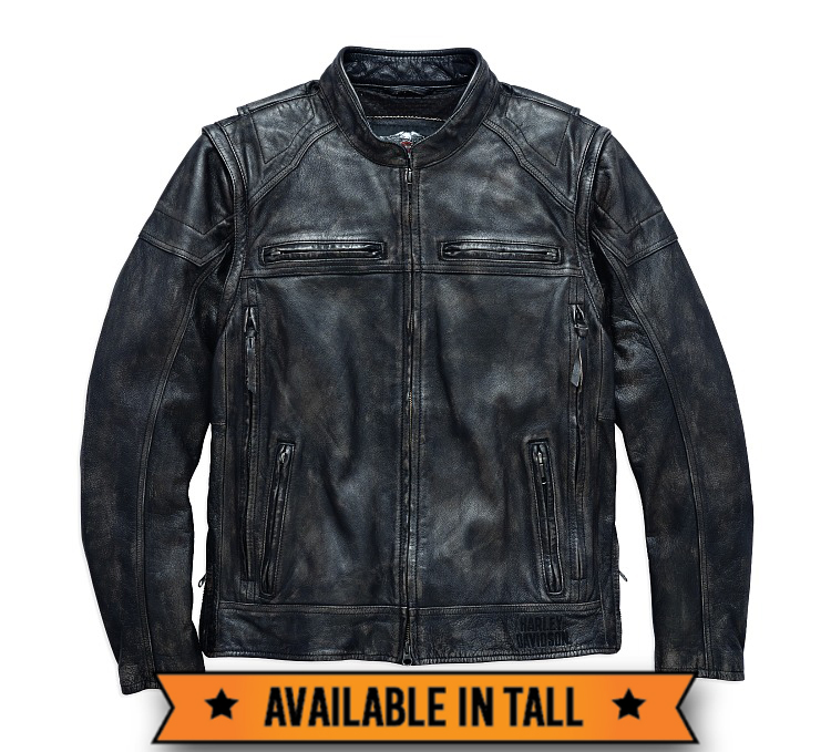Harley-Davidson® Men's Dauntless Convertible Leather Jacket | Vest