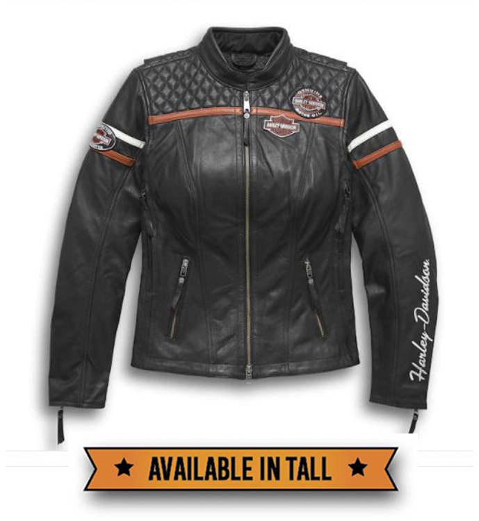 Harley-Davidson® Women's Miss Enthusiast Triple Vent System™ Leather Jacket | Quilted Stitching