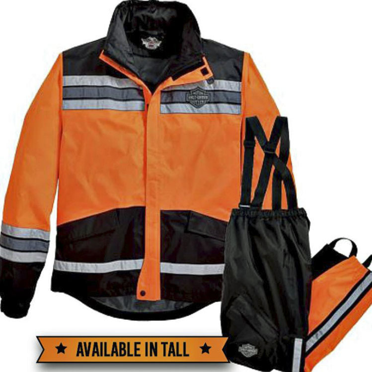 Harley-Davidson® Men's Hi-Vis Rain Suit | Orange