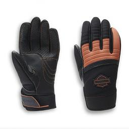 Harley-Davidson® Women's Killian Mixed Media Gloves | Touch-Screen Compatible