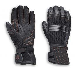 Harley-Davidson® Women's Oreti Vented Under-Cuff Gauntlet Gloves | Mixed Media | Touch-Screen Compatible
