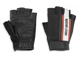 Harley-Davidson® Women's Miss Enthusiast Fingerless Gloves | Leather & Mesh | CoolCore® Technology