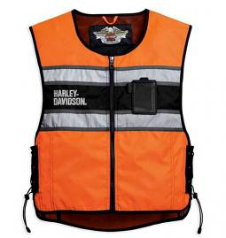 Harley-Davidson® Men's Orange Hi-Vis Vest