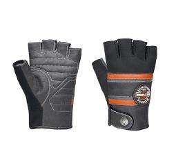 Harley-Davidson® Men's Mixed Media Fingerless Gloves | CoolCore® Technology
