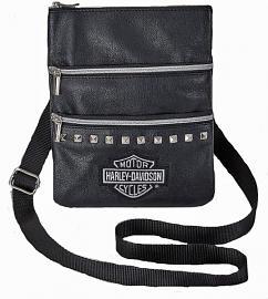 Harley-Davidson® Women's Leather Crossbody   Sling Bag   Hip Bag