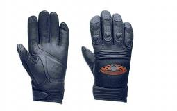 Harley-Davidson® Men's Burning Skull Full-Finger Gloves with Touch-Screen Technology