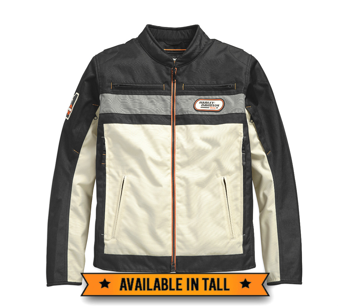 Harley-Davidson® Men's Piledriver Textile Riding Jacket | Removable Quilted Liner