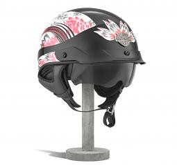 Harley-Davidson® Women's Terrace Dream J03 Half Helmet | Ultra-Light Sun Shield | Removable Liner