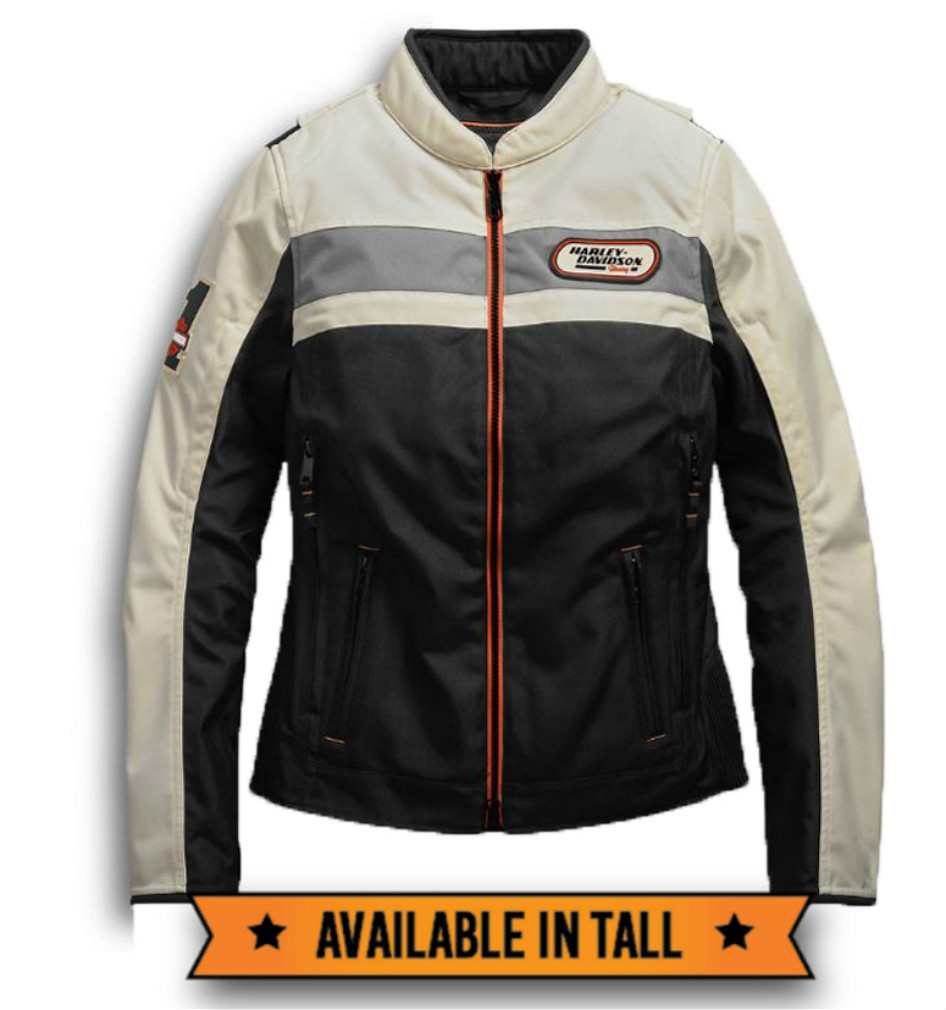 Harley-Davidson® Women's Fennimore Textile Riding Jacket | Removable Vest Liner