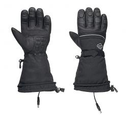 Harley-Davidson® Men's Heated BTC 12V Gauntlet Gloves | Waterproof Leather & Nylon