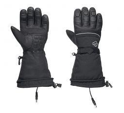 Harley-Davidson® Men's Heated BTC 12V Gauntlet Gloves | Waterproof Leather & Nylon