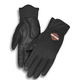 Harley-Davidson® Women's Odessa Mixed Media Mesh Gloves | Touch-Screen Compatible