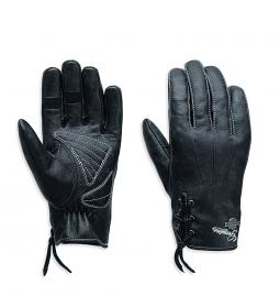 Harley-Davidson® Women's Swingback Distressed Full-Finger Gloves