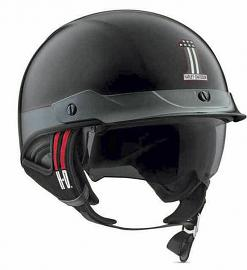 Harley-Davidson® Unisex #1 J03 Half Helmet | Removable Visor | Pull-Down Sun Shield