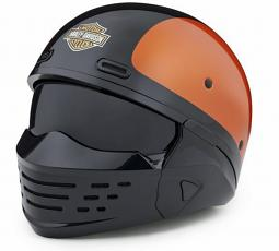 Harley-Davidson® Unisex Sport Glide™ X07 Half Helmet | Orange | 3-In-1 Options