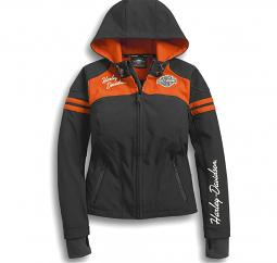 Harley-Davidson® Women's Miss Enthusiast Soft Shell Jacket | Cuffs With Thumbholes | Integrated Toggle Hood Pull