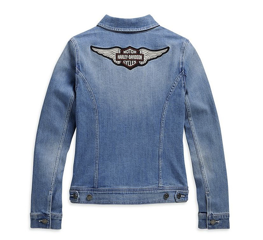 Harley-Davidson® Women's Denim Jacket | Winged Bar & Shield® Logo