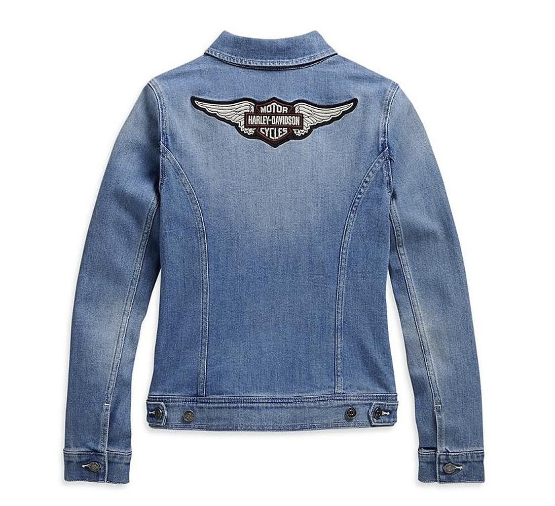 Harley-Davidson® Women's Denim Jacket | Winged Bar & Shield® Logo