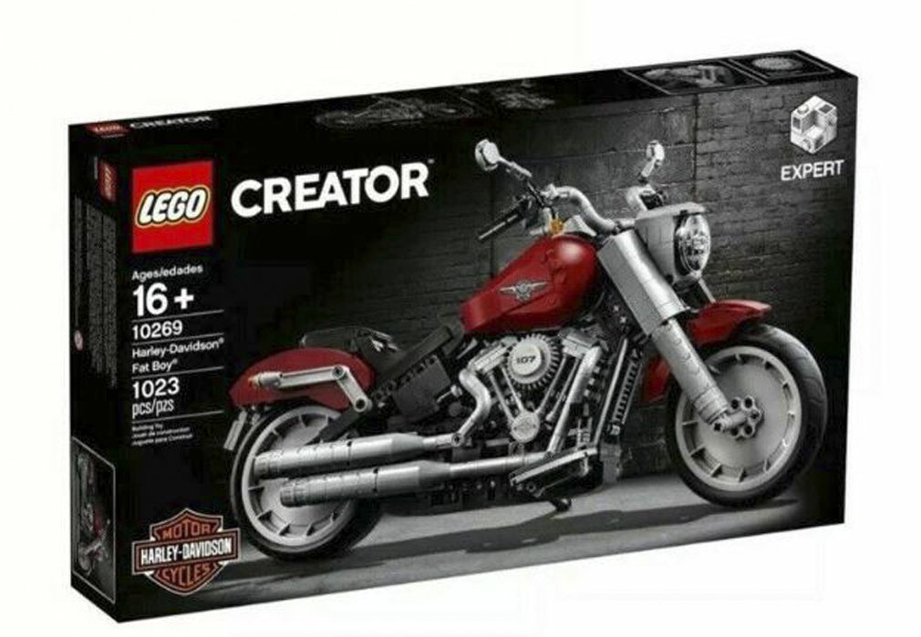 LEGO® Creator™ Expert Harley-Davidson® Fat Boy® Building Kit | Moveable Parts | Collectors' Item