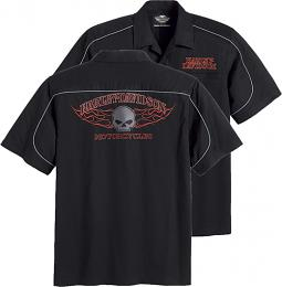 Harley-Davidson® Men's Burning Skull Garage Shirt