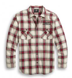 Harley-Davidson® Men's Freedom Plaid Shirt | Yarn Dyed | Long Sleeves